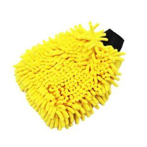Gant de lavage bi faces microchenilles et microfibres